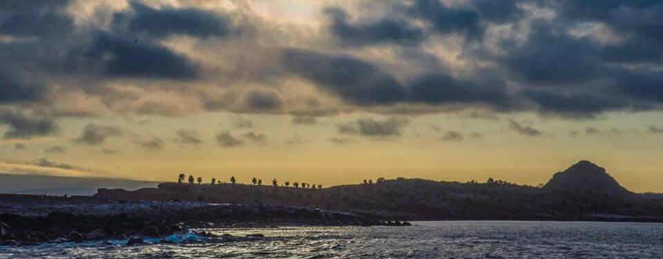 Sundown at South Plaza, Galapagos islands