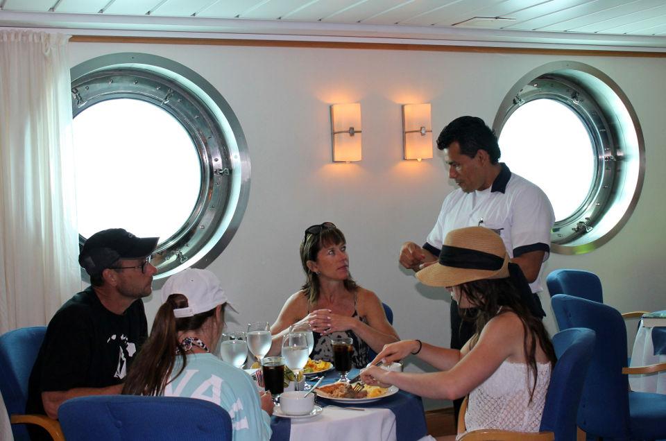 Ecuadorian food aboard Yacht La Pinta