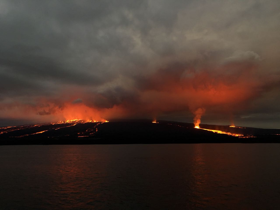 Galapagos volcanic eruption