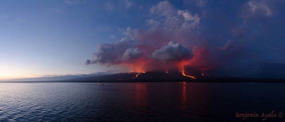 Galapagos islands eruption