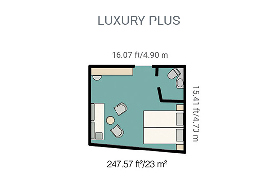 Map of Yacht La Pinta's luxury plus cabin