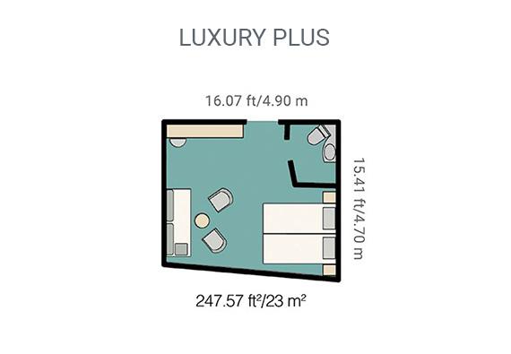 Map of Yacht La Pinta's luxury plus cabin
