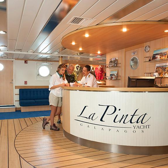 Main deck on Yacht La Pinta