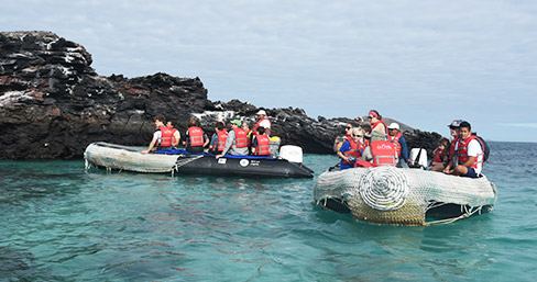 Panga ride at the Galapagos Islands
