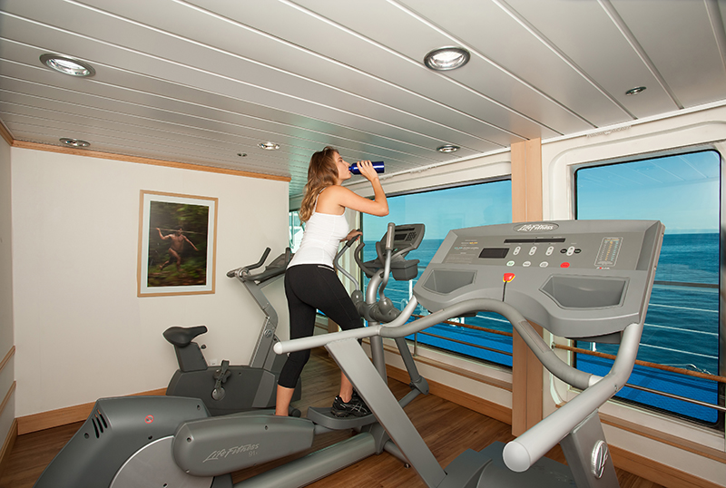 Yacht La Pinta's fitness room