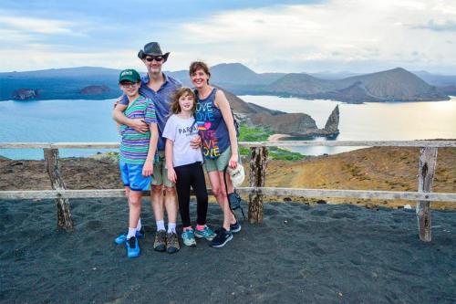 Family at Bartolome Island.
