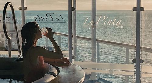 Yacht La Pinta hot tub on deck