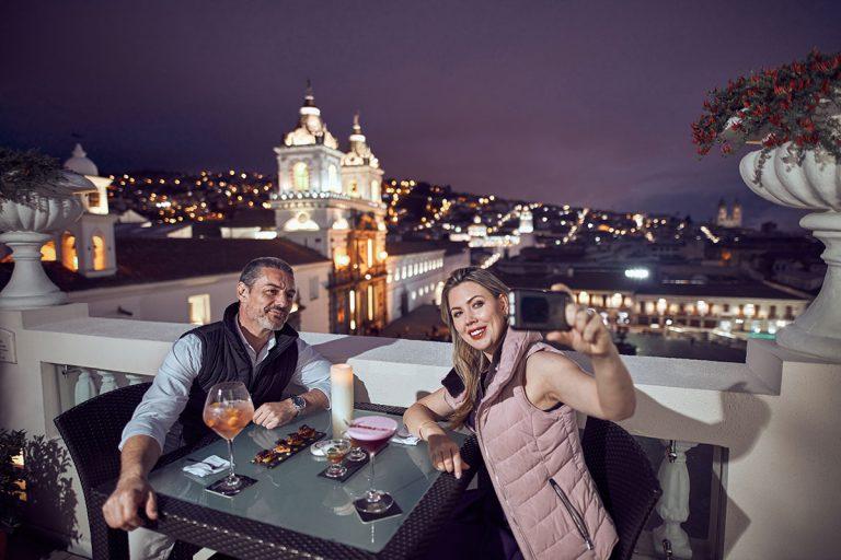 Casa Gangotena's Rooftop Terrace