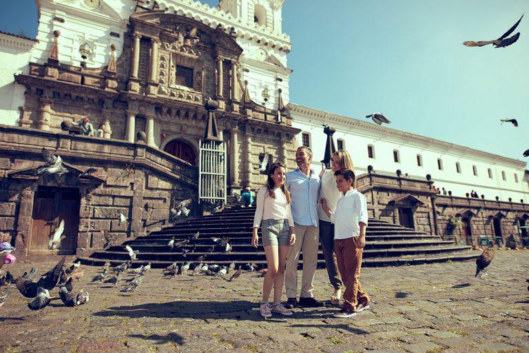 San Francisco Plaza in Quito, Ecuador