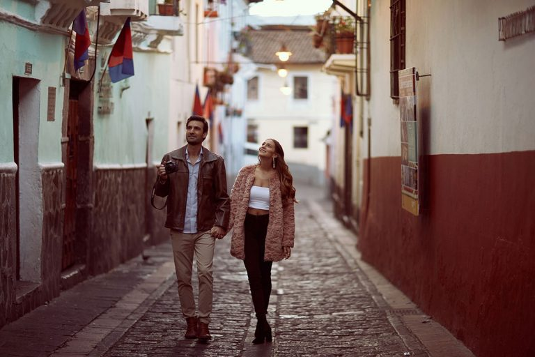 La Ronda street in Quito, Ecuador