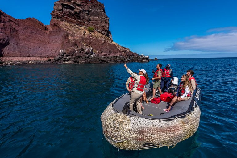 Panga ride in the Galapagos Islands