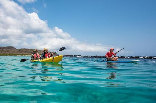 Water-related activities at Galapagos Islands.